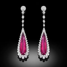 "Palmiero Jewellery Design (@palmierojewellery) on Instagram: Exquisite and elegant ""Captured Stones"" earrings in white diamonds and 14ct purplish pink colour Rubellites on white gold. #palmiero #jewellery #earrings #highjewelry #rubellite #luxury #oneofakind #italiandesign #madeinitaly #jewelrydesign"