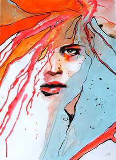 "Saatchi Art Artist Anna Maria Matykiewicz; Painting, ""River"" #art"