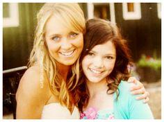 Amber and Alisha at Amber's wedding