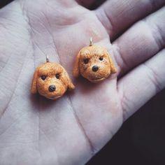 Poodle charms handmade by Gli intenditori del Fimo - FairClay on Etsy
