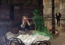 La muse verte - Absinthe ~ Albert Pierre Rene Maignan ~ (French: 1845-1908)