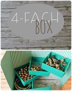 4-Fach Box envelope punch board, DIY, Tüddel*Kram, Anleitung