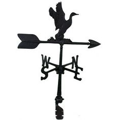 "Features:  -Weathervane.  -Hand cast in rust free aluminum.  -Arrow is cast as one solid piece.  -Adjustable and fits most pitched roofs or cupolas.  -Use on a 18"" - 24"" cupola, small garage or tool s"