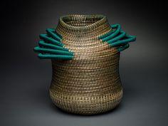 Emerald - Coiled Basket by Debora Muhl