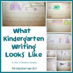 What kindergarten writing looks like - a year of student samples