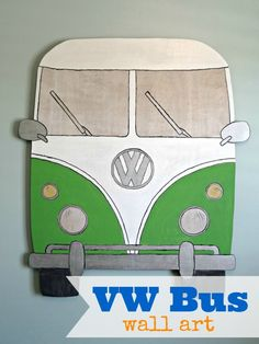 Create a giant VW Bus with Dremel Moto-Saw. Step by Step tute over on www.bluecricketdesign.net