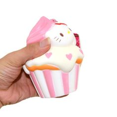 Arrival KAWAII Jumbo Squishy Cupcake Strawberry Scented Slow Rising for sale online Kawaii Stuff, Cupcake, Hello Kitty, Strawberry, Corner, Bedroom, Desserts, Collection, Noel