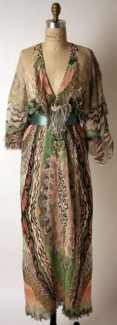 1975 Dress, Evening, Zandra Rhodes, London