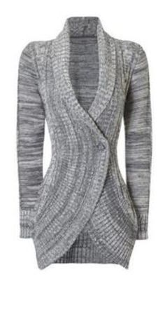 Cozy Sweater Fashion! Stylish Shawl Collar Long Sleeve Slimming Women's Cable Cardigan #Cozy #Silver #Grey #Knit #Cardigan #Sweater #Fashion
