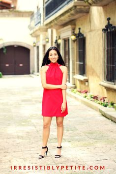This little red dress is perfect for special occasions! Irresistibly Petite Blog. Lifestyle Blogger. Fashion blogger. Fashion. Kendra Scott. C/MEO collective. Dillards. Style&Co.