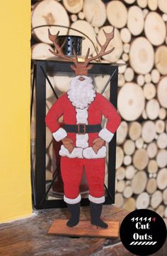 wait it was supposed to be Dear Santa.too late Deer Santa it is Dear Santa, Deer, Christmas Decorations, Unique, Christmas Decor, Ornaments, Christmas Baubles, Christmas Ornaments, Nativity Ornaments