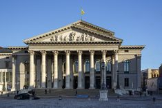 The National Theater on Max-Joseph-Platz in Munich, Germany is a historic opera house, home of the Bavarian State Opera, Bavarian State Orchestra and the Bavarian State Ballet. Visit Munich, National Theatre, Bavaria, Big Ben, Opera House, Medieval, Louvre, Germany, Explore