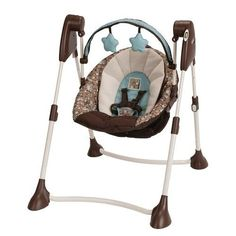 Graco Swing By Me LX Portable Swing - Little Hoot, babies r us Graco Baby Swing, Portable Baby Swing, Infant Swing, Infant Seat, Baby Swings And Bouncers, Owl Bedding, Swing Design, Babies R Us, Reborn Babies