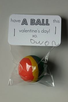 A great non-edible valentines day treat for kids! You can tweak the phrase to be more fitting but the idea still stands!