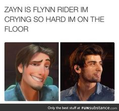 He should just go to Disney dress up as Flynn Rider and be him for that day and see who would recognize him