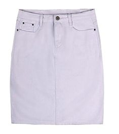 d07898066f Cromoncent Womens Casual Plus Size Denim Solid Color Bodycon ALine Washed  Skirts White XLarge * Amazon most trusted e-retailer #SummerOutfit