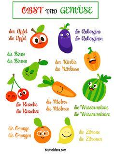 Welches Obst und Gemüse esst ihr am liebsten? #Deutsch #German