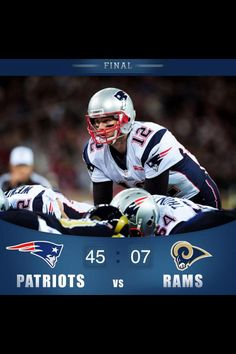 Brady and Co. Steamroll over the Rams