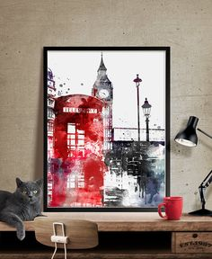 London Big Ben Art London Art London Print London por FineArtCenter