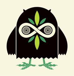 Infinity Owl art print. artist: Aesthetic Apparatus.