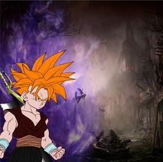 A mixture between Gohan (Dragon Ball) and Ichigo (Bleach)