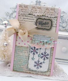 Christmas card using friendship jar stamp