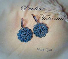 PDF Tatting Pattern Irada Earrings Instant Download por Emeliebeads