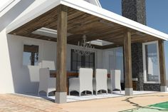 mooie strakke veranda