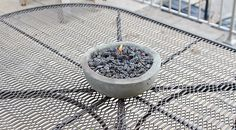 60 concrete tabletop firepit