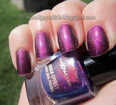 Max Factor Fantasy Fire layered over purple