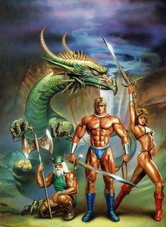 Comic books, B movies and retro porn. Classic Video Games, Retro Video Games, Video Game Art, Retro Games, Sega Classic, Snk King Of Fighters, Arte Alien, Sword And Sorcery, Pulp Art