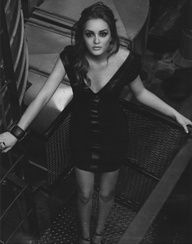 Leighton Meester black and white