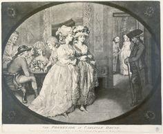 The high hair & ruffles.  AL. The Promenade at Carlisle House: 1781, J.R. Smith MoL 002154