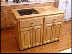 Make A Roll-away Kitchen Island