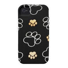 Dog Puppy Paw Prints Gifts for Dog Lovers Case-Mate iPhone 4 Cases SOLD on Zazzle