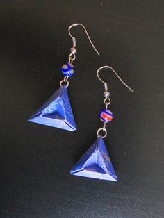 boucles d'oreille origami triangle