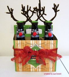 Rudolph Reinbeer! What a cute, inexpensive gift!
