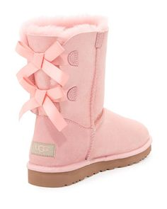 UGG Australia Bailey Bow-Back Short Boot, Baby Pink
