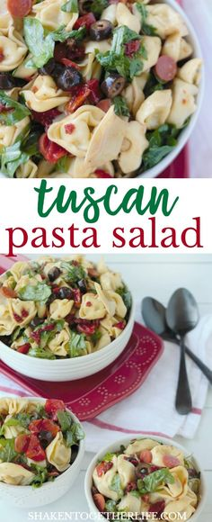 Tuscan Pasta Salad is a hearty, flavorful Summer side dish with an easy essential oil vinaigrette! Grab this and 9 other ways to rock your next cookout with essential oils!
