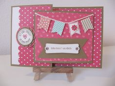Stampin`Up! - Joy-Fold-Card, Sale-A-Bration Im Fähnchenfieber Joy Fold Card, Karten Diy, Banner, Giving, Diy Cards, Stampin Up, Blog, Baby Shower, Crafty