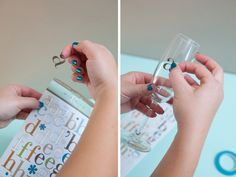 "DIY | glam champagne glasses  (Want to try this w/o the ""frame"" for more of an organic gradient edge)"