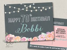 50 messages from 50 friends postcards 60th Birthday Ideas For Mom Party, 90th Birthday Cards, Birthday Yard Signs, Birthday Postcards, 70th Birthday Parties, Happy Birthday Messages, Surprise Birthday, Surprise Party Invitations, Party Favors