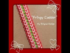 """*Updated* My """"Fringy Ladder"""" Rainbow Loom Bracelet/ How To Tutorial - YouTube"""