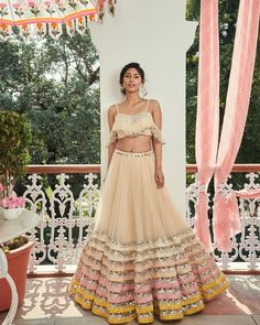 Latest Collection of Lehenga Choli Designs in the gallery. Lehenga Designs from India's Top Online Shopping Sites. Indian Lehenga, Red Lehenga, Anarkali, Indian Bridal Fashion, Indian Wedding Outfits, Indian Outfits, Bridal Outfits, Indian Engagement Outfit, Wedding Dresses