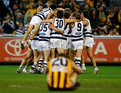 One of the best moments Cat Celebrating, Australian Football League, Great Team, Football Team, Celebrities, Cats, Fitness, Sports, Legends
