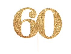 60 Cake Topper - 60th Birthday Decorations