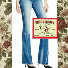 """True Religion Joey Low Rise Flair Popular Authentic True Religion Joey Low Rise Flare, twisted-seam, 32"""" waist with 32"""" inseam. Excellent condition! True Religion Jeans Flare & Wide Leg"""