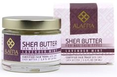 Alaffia  Handcrafted Fair Trade Shea Butter Lavender Mint 2 Ounces * Want additional info? Click on the image. (Note:Amazon affiliate link)
