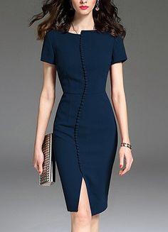e66cc324a4683 Business Dresses, Corporate Dresses, Business Attire, A Line Dress Work,  Dresses For