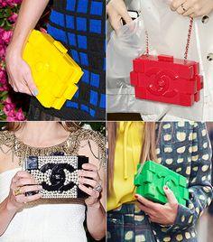 @Alex Leichtman M What Wear - Most Photogenic                 Chanel's lego clutch was a regular ham